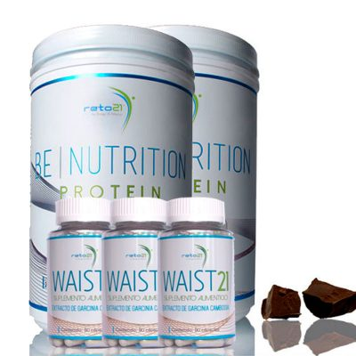 Paquete: 2 Be Nutrition Protein + 3 Waist 21